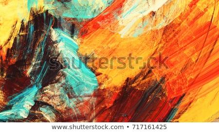 Resumen ardiente curva a rayas fuego diseno Foto stock © studiodg