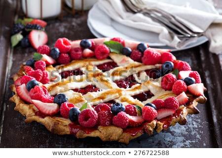 torta · fresche · frutti · di · bosco · menta · bianco · alimentare - foto d'archivio © Masha