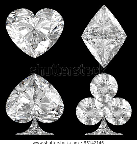 Red Diamond Heart Shape On Black Stok fotoğraf © Arsgera