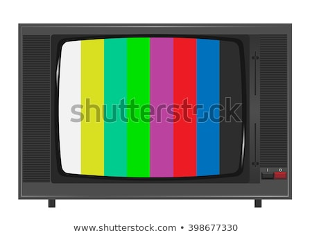 nostalgic old tv set stock photo © prill
