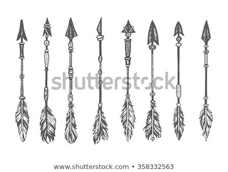 Ethnic arrows, isolated on white background Stock photo © zeffss