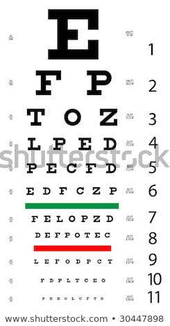 オリジナル · 眼 · グラフ · 手紙 · 印刷 · グラフィック - ストックフォト © Petkov