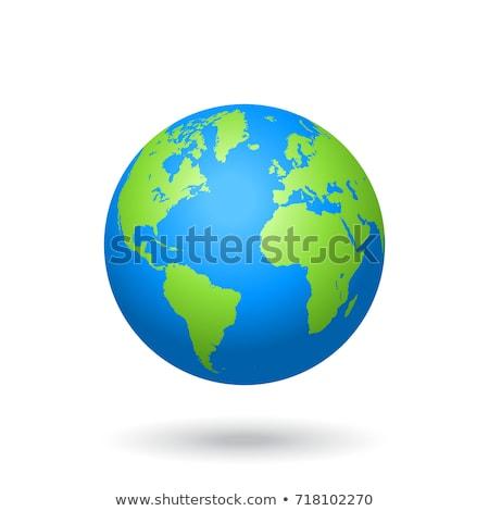 zöld · világ · atlasz · földgömb · térkép · fehér - stock fotó © stevanovicigor