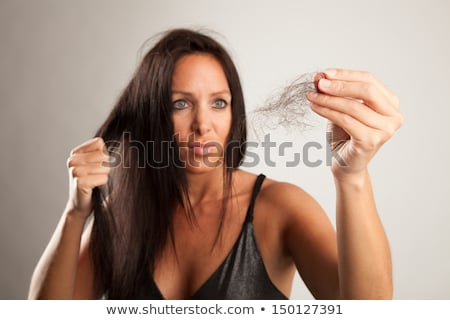 Frau · Haar · weiß · Mode · schwarz · jungen - stock foto © dacasdo