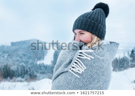 smiled cute girl on a cold winter day stock photo © imarin