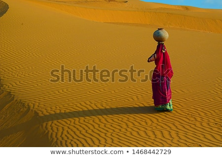 Woman carrying her skies Stock photo © photography33