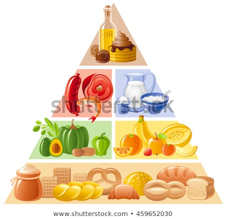 продовольствие пирамида здоровое питание группы изолированный белый Сток-фото © digitalstorm