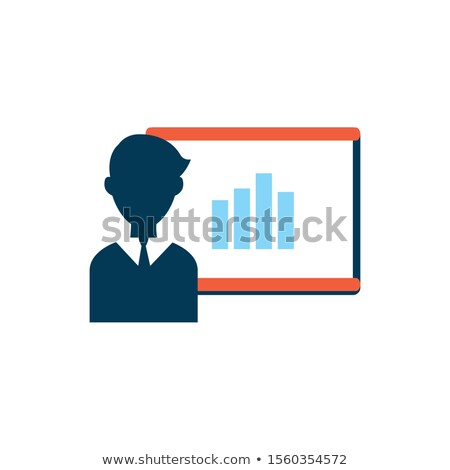 Man presenting statistics on paperboard Stock photo © photography33