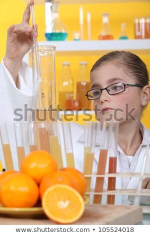 Iskolás lány biológus nő orvosi konyha szemüveg Stock fotó © photography33