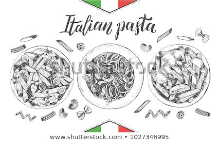 Photo stock: Italien · pâtes · spaghettis · isolé · blanche