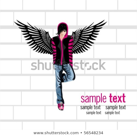 Grunge funky emo gothic elements Stock photo © hugolacasse