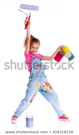cute handygirl on ladder stock photo © photography33