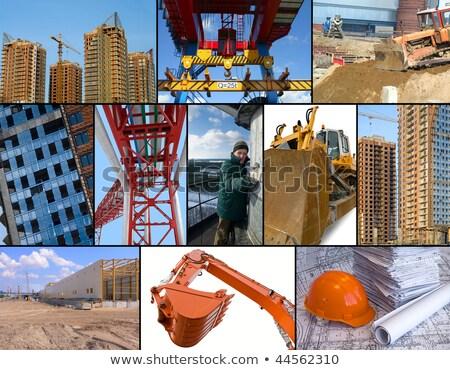 építőipar üzlet égbolt fal munka ipar Stock fotó © photography33