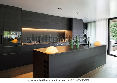 intérieur · de · cuisine · design · contemporain · cuisine · architecture · stock - photo stock © artvitdiz