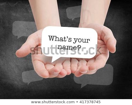 nome · escrito · quadro-negro · giz · textura · fundo - foto stock © bbbar