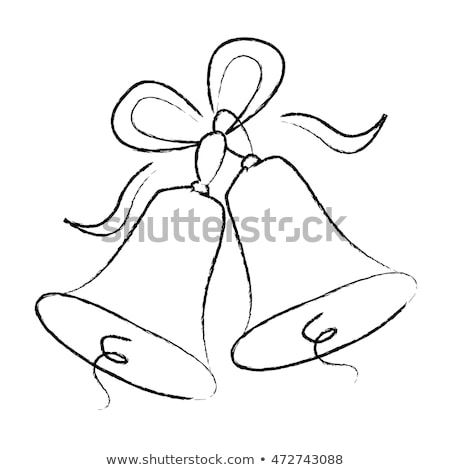 casamento · sino · esboço · ícone · teia · móvel - foto stock © hermione
