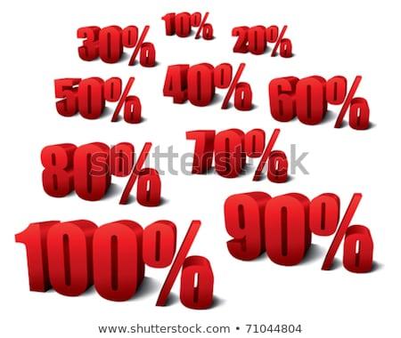 Dieci cento cento crescita bianco shopping Foto d'archivio © Ciklamen