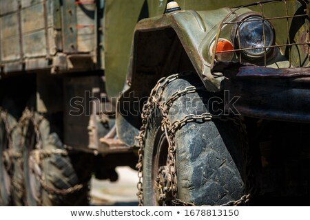 Old Soviet military jeep Stock photo © grafvision