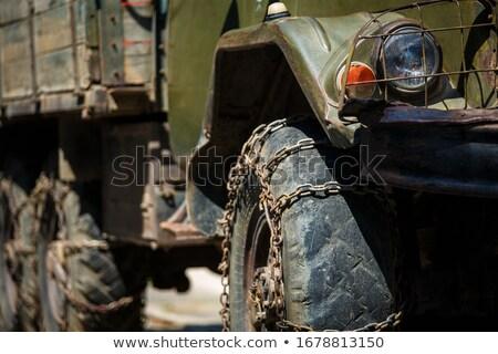 militaire · vervoer · vliegtuig · vliegen · rechtdoor · Blauw - stockfoto © grafvision