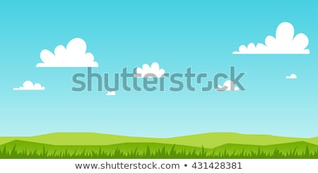 Background with Grass and Sky Stock photo © WaD
