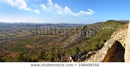 Сток-фото: Top · мнение · старые · замок · гор · небе