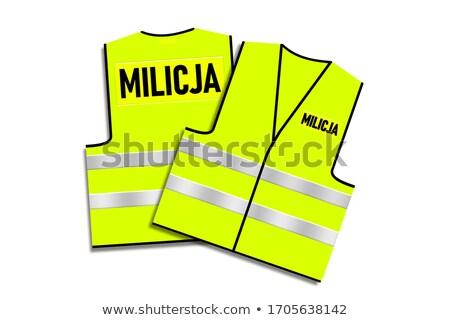 Protective fluorescent yellow vest Stock photo © lkeskinen