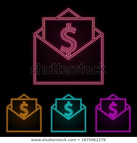 Put euros bills on the envelope stock photo © broker