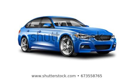 Blue car reflected Stock photo © broker