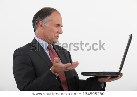 Senior businessman having technical issues with laptop Stock photo © photography33