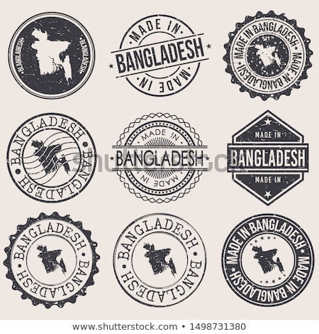 E-mail Bangladesh imagem carimbo mapa bandeira Foto stock © perysty