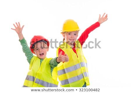 Tükröződő mellény férfi építkezés ipar munkás Stock fotó © photography33