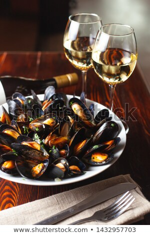 two boiled mussels stock photo © Antonio-S
