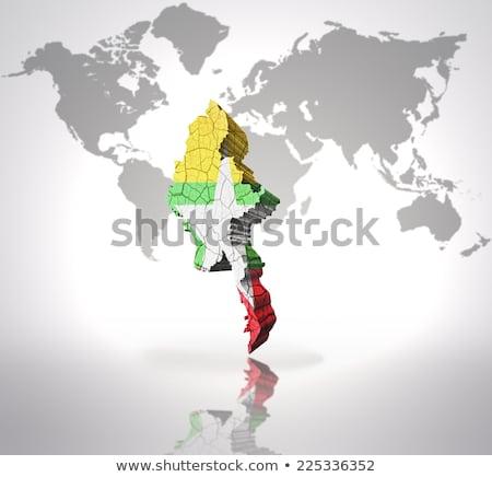 Flag of Myanmar on brick wall Stock photo © creisinger