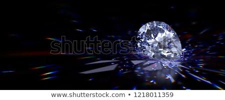 Diamond of drop shape on glossy black Stock photo © oneo