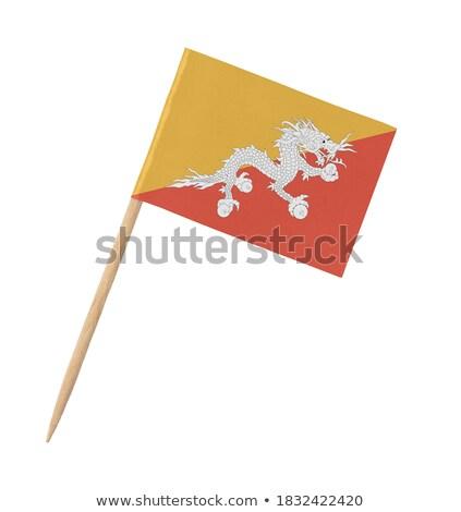 Miniatura bandeira Butão isolado reunião Foto stock © bosphorus