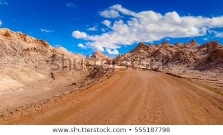Desert road and ruins Stock photo © prill