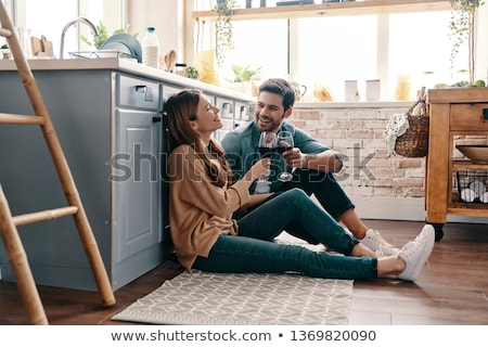 happy couple in a kitchen Stock photo © photography33