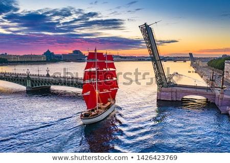 kathedraal · water · stad · landschap · vlag - stockfoto © Alenmax