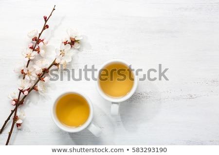 Сток-фото: два · чай · оранжевый · Ломтики