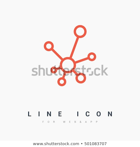 abstract data connection icon Stock photo © pathakdesigner