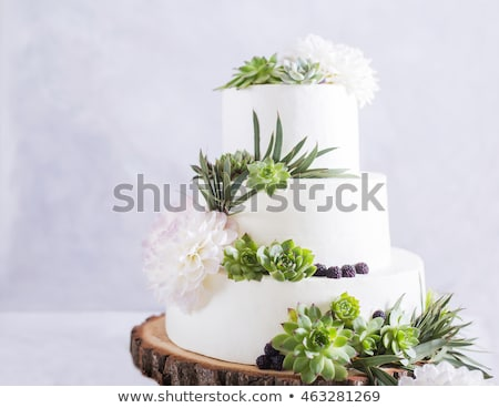 chá · verde · bolo · tabela · flor · horizontal · foto - foto stock © tab62