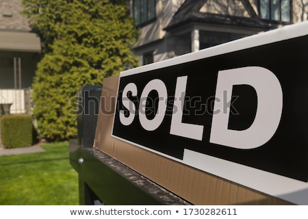 Foreclosure Home For Sale Sign And House Stock photo © Lightsource