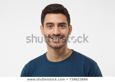 Portret jonge man geïsoleerd zwarte mode Stockfoto © acidgrey