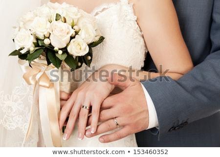 Closeup of beautiful brides hand Stock photo © luckyraccoon