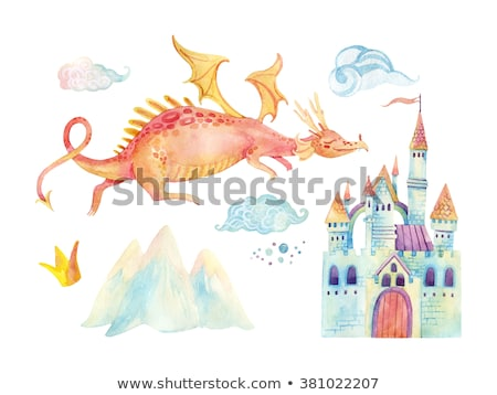 Jumping dragon castle Stock photo © cteconsulting