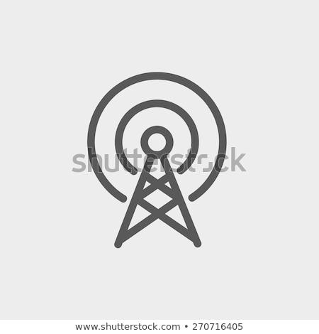 vektör · ikon · yayın · istasyon - stok fotoğraf © zzve