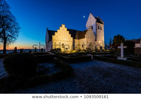 Early Christian church at night stock photo © hraska