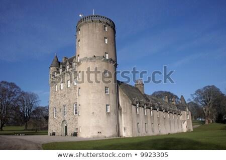 城 · スコットランド · 中世 · 花 · 建物 - ストックフォト © ruthblack