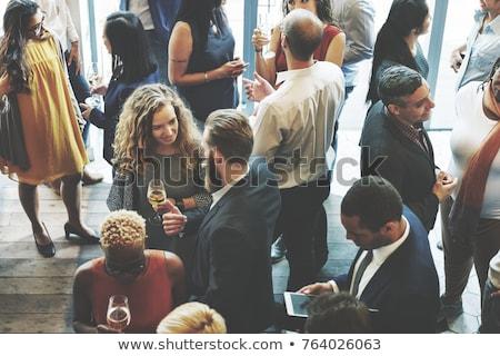 группы люди говорили различный люди Постоянный подростку Сток-фото © luminastock