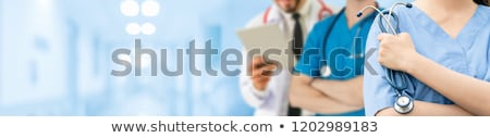 Doctor and staff in hospital Stock photo © photography33